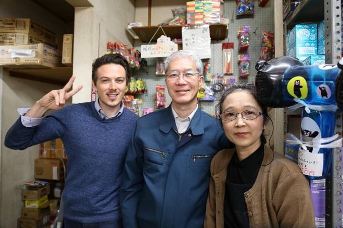FFJ プレゼンターのサムと店主ご夫妻
